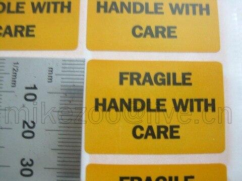 com cuidado da etiqueta autocolante item no ss14