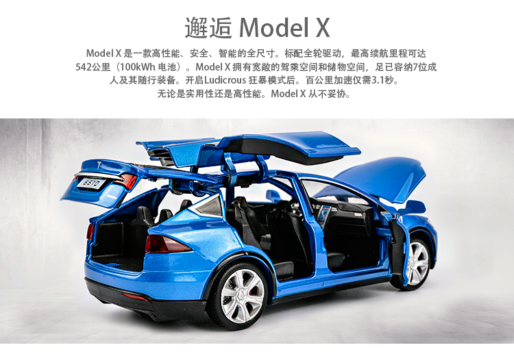 Tesla Model X Model Car 10