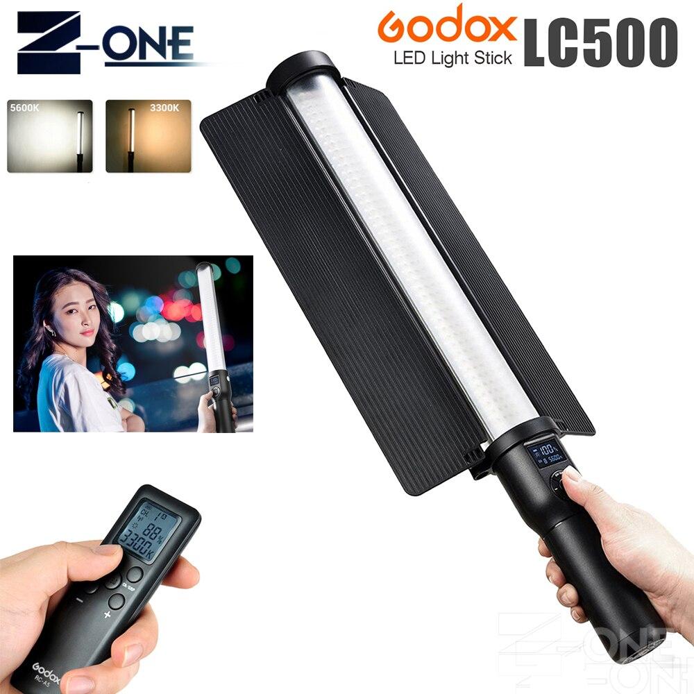 В наличии Godox LC500 3300 К 5600 К регулируемая ручка светодиодный свет Stick встроенный lithiunm Батарея снаружи легкий для переноса Свадебные
