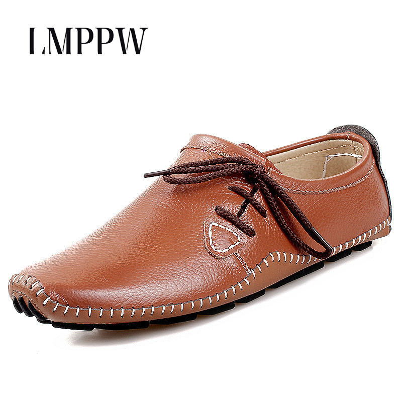 Fashion Style Soft Moccasins Men Loafers Genuine Leather Casual Shoes Slip on Comfortable Driving Shoes Handmade Men Flat Shoes 2017 autumn new men shoes genuine leather loafers slip on breathable dress shoes moccasins fashion brand soft leather flat shoes