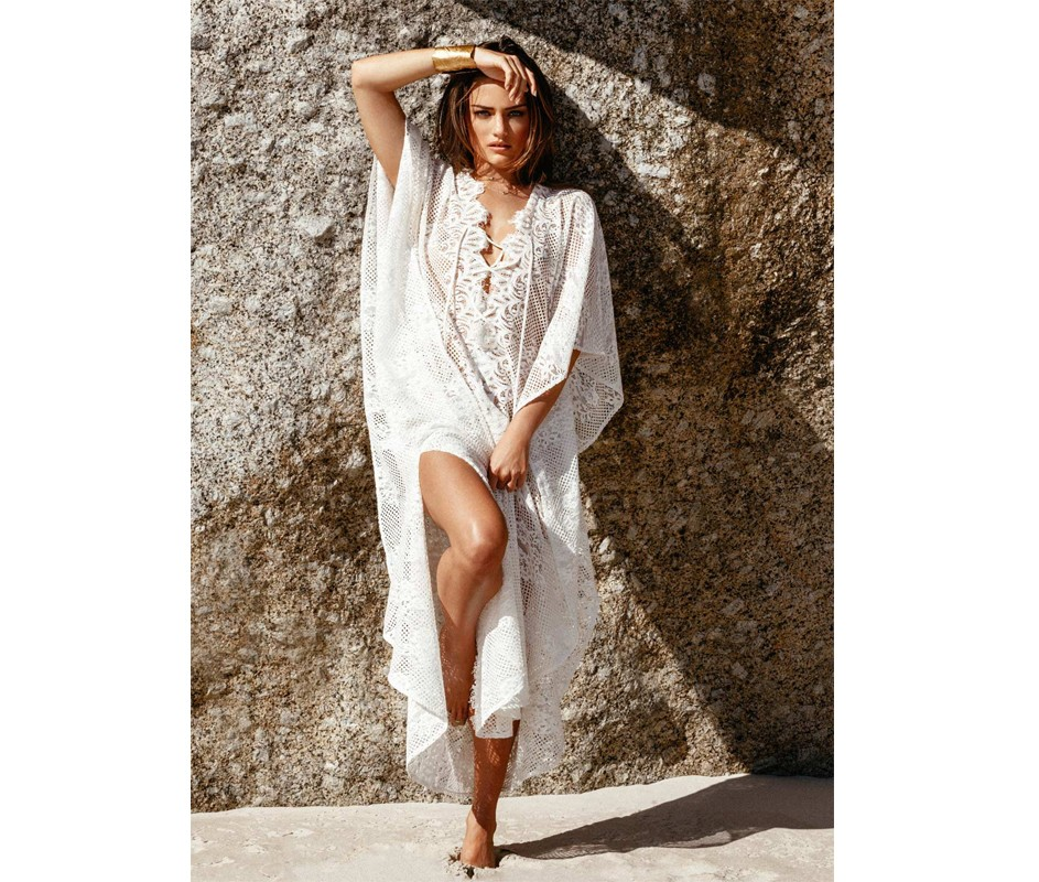 New floral sexy lace beach cover up dresses white bathing suit cover ups women beach wear 9326 - Haut sexy femme ...