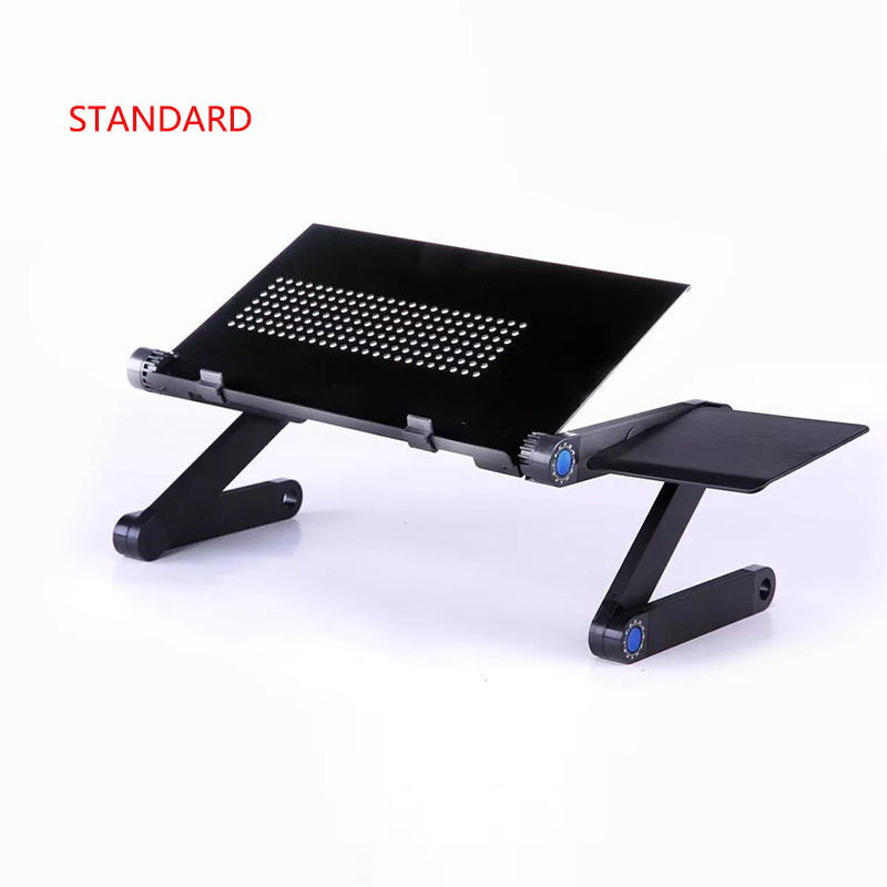 Portable Foldable Laptop Desk Adjustable Folding Table For Lapdesk Tray PC Notebook Aluminum Stand Tray With Mouse Pad Dropship