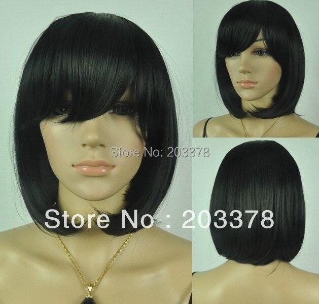 Pretty Short black straight women full Wigs (Free Shipping) 10pcs/lot mix order