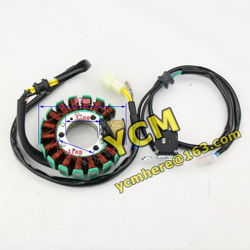 ZS250GS Magneto Stator Coil 12V 16 Pole AC ZS MOTOR ZONGSHEN ZS200GY ...