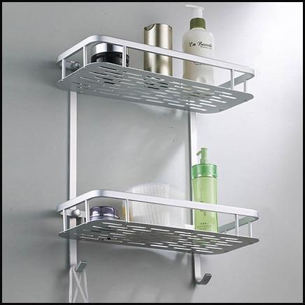 Attractive Fesselnd Bad Regal Aluminium Wc Anhänger Regale Doppel Lagerung Regale  Waschraum Badezimmer Zubehör Regal .