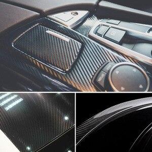 Image 3 - Película de vinilo de fibra de carbono brillante 5D para coche, 200cm x 50cm, lámina impermeable, bricolaje, pegatinas decorativas, accesorios para coche