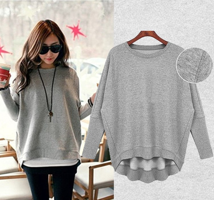2015 Autumn pullover sweatshirt fashion sports women casual loose ...