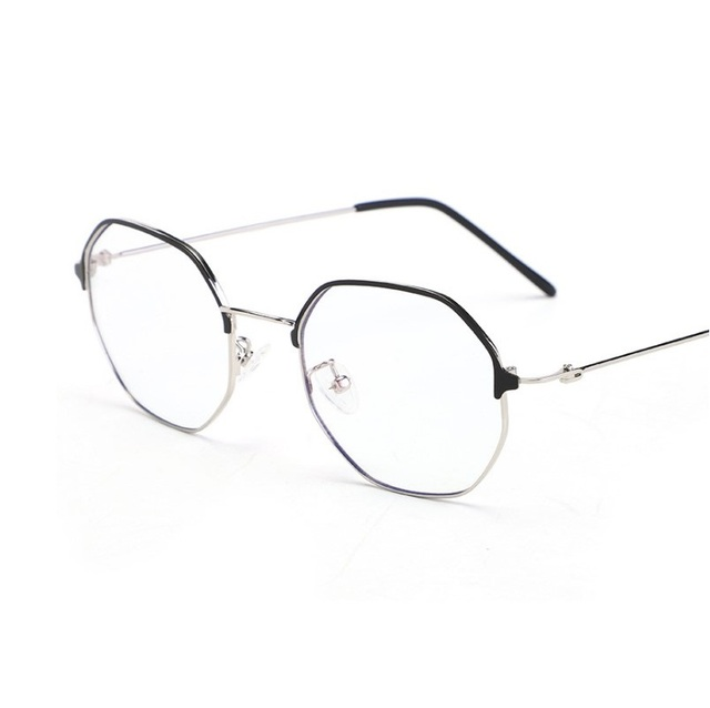 4ab9de377b WIDTH-137 New anti blue ray glasses male female computer goggles retro  polygonal art eyeglasses frames women eyewear frames men