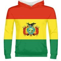 BOLIVIA male custom made name number bol country zipper sweatshirt bo nation flag spanish college bolivian print photo clothes