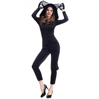 New Arrival Conjoined Disfraces Halloween Costume Cat Girl Cosplay Costume Exotic Role Play Clothes Hot Sale