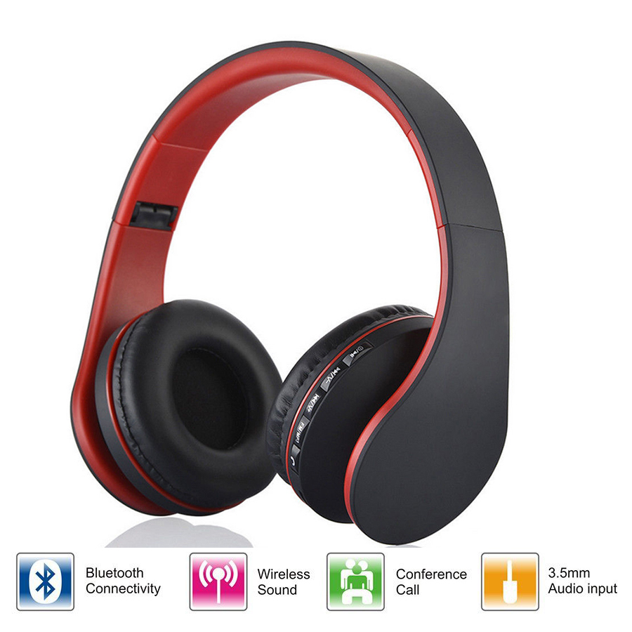 Digital 4 in 1 Stereo Wireless headphone Bluetooth 4.1 + EDR Headphone Headset Wired Earphone with Mic MicroSD / TF FM Radio цены онлайн