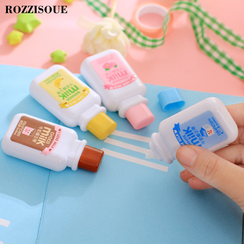 Cute Cartoon Kawaii Milk Style Correction Tape For Kids Gift School Supplies Materials Korean Stationery Novelty Stickers Pen