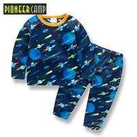 Pioneer Camp Kids 2017 Baby Cartoon Infantil 2 10Y Boy Pajamas Set Girls Set Baby Toddler