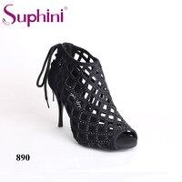 Бесплатная доставка; пикантные танцевальные сапоги Suphini; женские танцевальные сапоги с принтом змеи; Аргентина