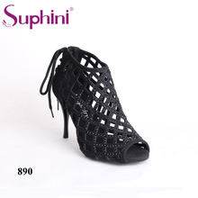 Free Shipping Suphini Sexy Dance Boots Snake Print Argentina Woman Dance Boots free shipping suphini high heel woman dance shoes leopard print unique design tango dance shoes