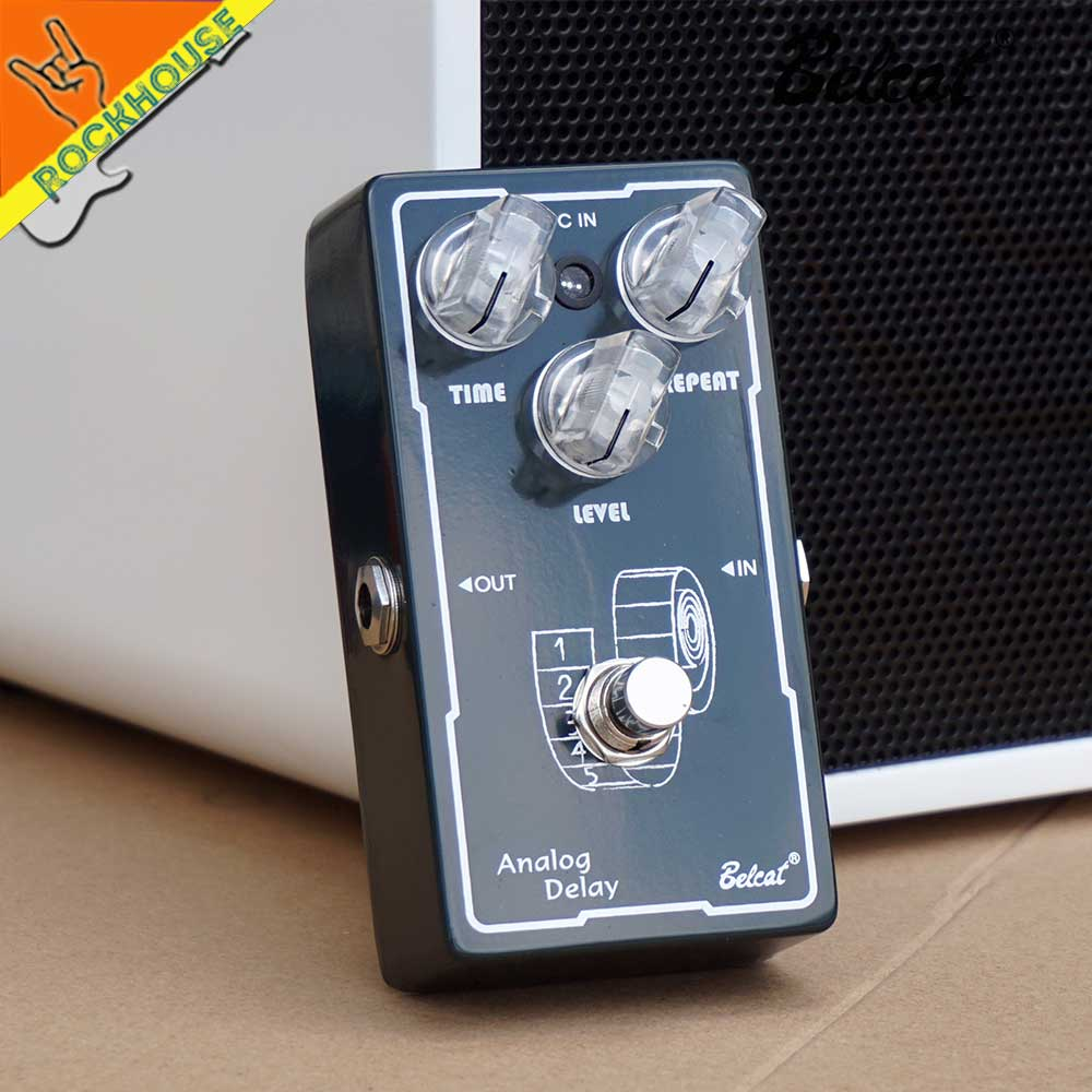 buy belcat analog delay guitar effects pedal guitar delay 800ms delay time. Black Bedroom Furniture Sets. Home Design Ideas