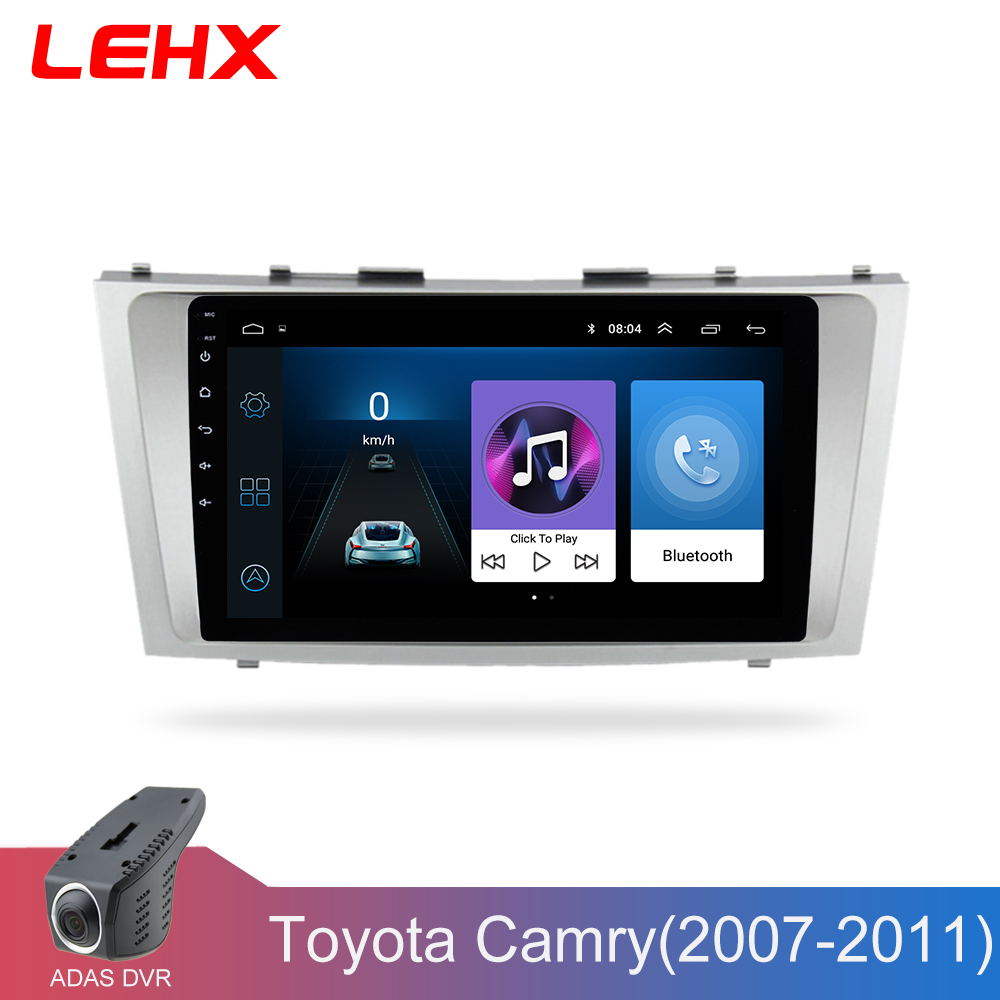 LEHX Multimedia-Player Car-Radio Navigation Android 8.1 2008 2-Din Toyota Camry 2007
