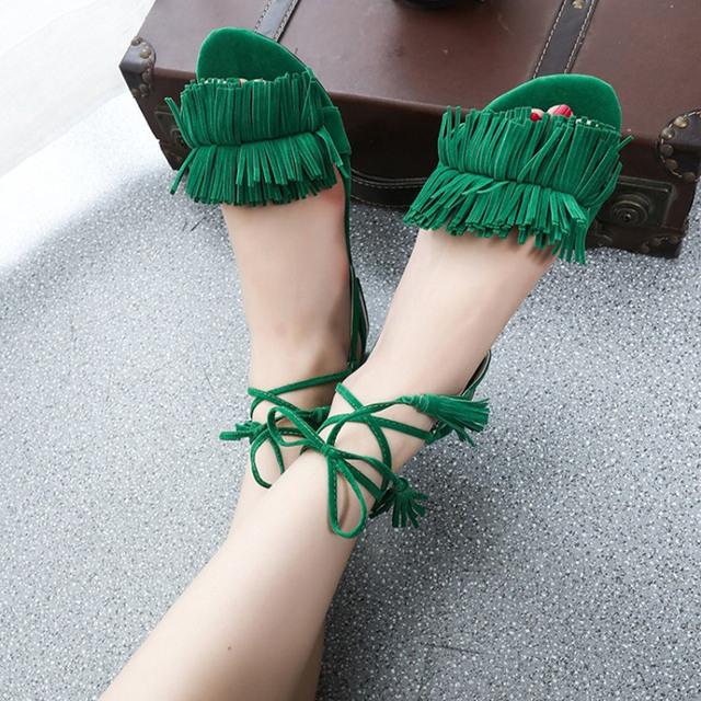 Tassel Ankle Gladiator Sandals Women