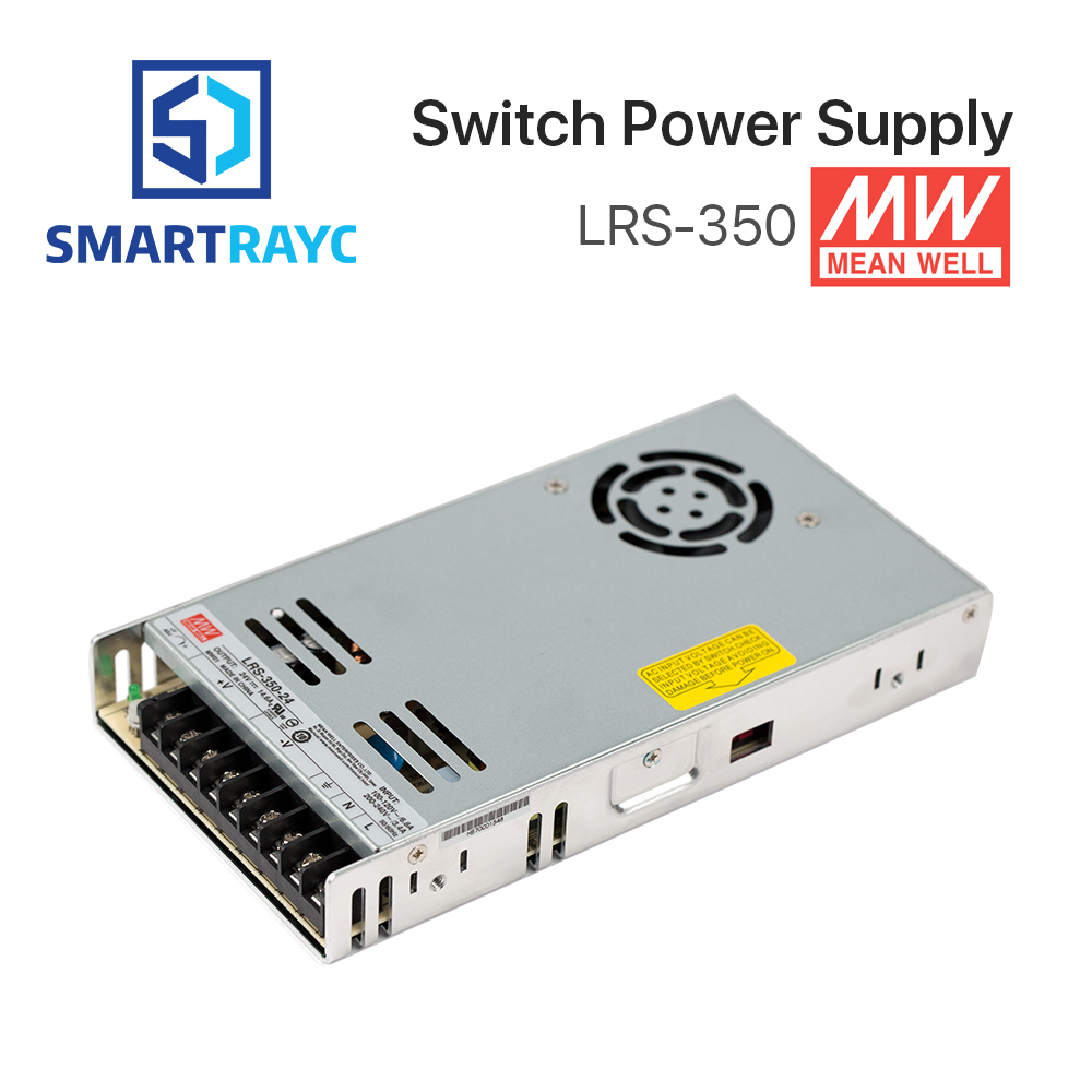 Smartrayc Meanwell LRS-350 Switching Power Supply 12V 24V 36V 48V 350W Original MW Taiwan Brand LRS-350-24 laser cutting marking engraving machine diy parts meanwell mw nes 350 24 350w 24v power supply switching switch power supply