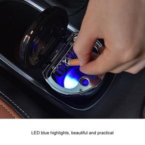 Image 5 - البوصلة LED منفضة سجائر متعددة وظيفة الصمام الإضاءة مضيفا الرومانسية اللون مضيئة البوصلة منفضة سجائر المدخن ختم