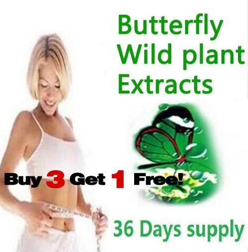 36 дней питания диетический продукт бабочка дикое растение ботанических экстрактов 100% эффективных передовых похудения гели сжигатель жира