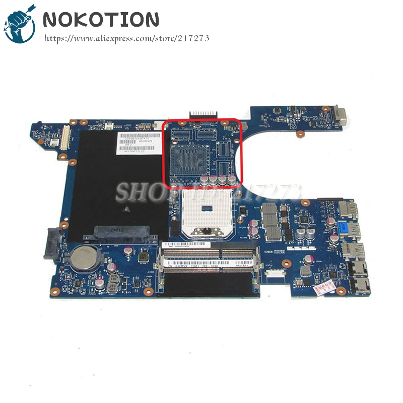 NOKOTION CN-04VMVX 04VMVX QCL10 LA-8251P PC MAIN BOARD For Dell 15R 521R Laptop Motherboard Socket FS1 DDR3 nokotion main board for dell 15r 5520 motherboard system board cn 0n35x3 0n35x3 la 8241p ddr3