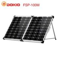 Dokio 100 W (2 Adet x 50 W) katlanabilir GÜNEŞ PANELI Çin pannello solare usb Güneş pil hücresi/Modül/Sistemi Şarj Cihazı
