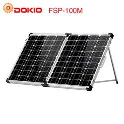 Dokio 100 W (2 piezas x 50 W) plegable del Panel Solar del China pannello solare usb controlador de batería Solar celular/módulo/sistema/cargador
