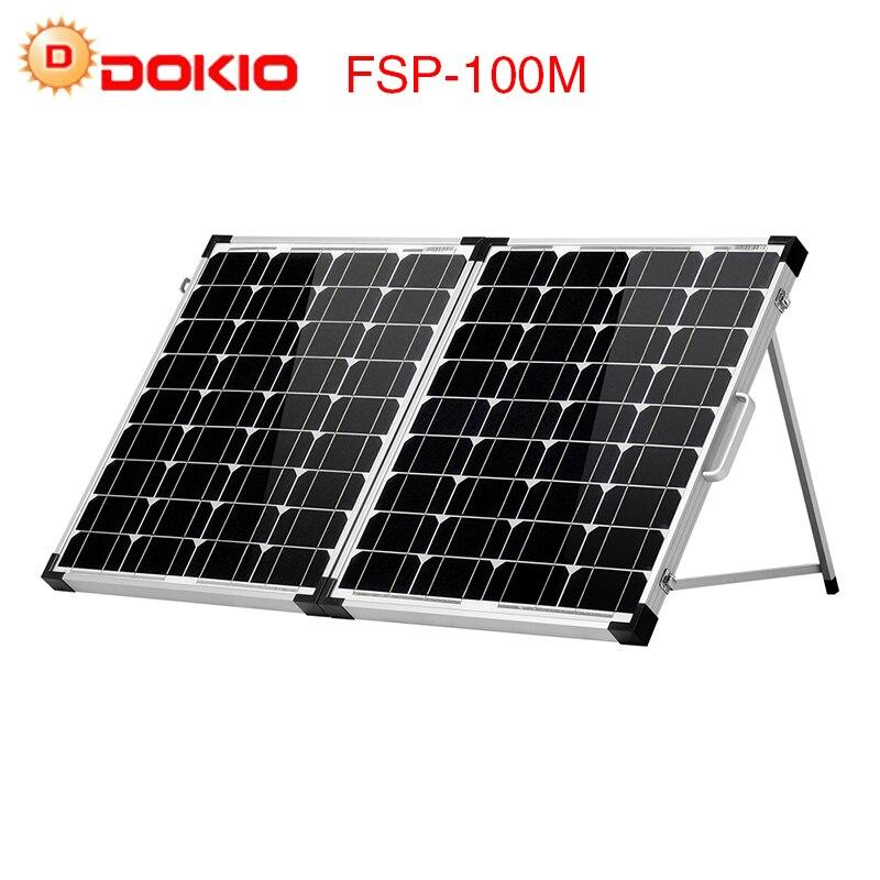 Dokio 100 w (2 pz x 50 w) pieghevole Pannello Solare Cina pannello solare Controller usb Cellula di Batteria Solare/Modulo/Caricatore Sistema