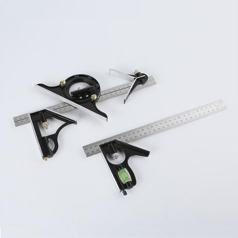 Stainless Steel Woodworking Square Protractor Universal Angle Ruler