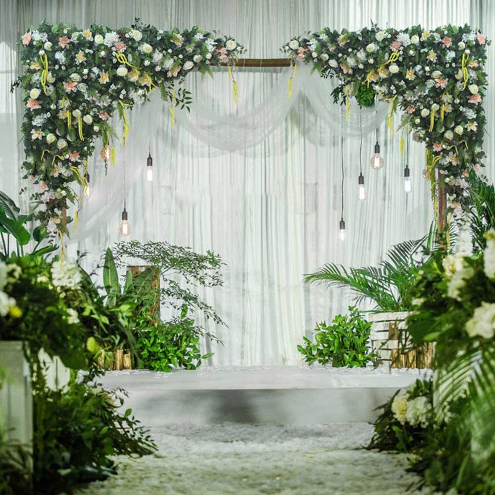 Personnaliser fleur artificielle rangée guirlande décor maison rideau mariage route plomb coin fleur mur soie fleur centres de table boule
