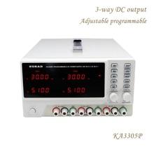 KORAD KA3305P Adjustable Programmable Precision Variable 30V 5A 3A USB RS232 Ports Three-Way DC Digital Regulated Supply Lab