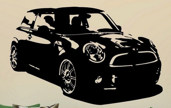 New Hot Selling Car Wall Sticker Car Mini Cooper S. 1746 Mural Art Vinyl Wall Decal Bedroom Boyu0027s Room Car Shop Home Decoration-in Wall Stickers from Home ... & New Hot Selling Car Wall Sticker Car Mini Cooper S. 1746 Mural Art ...