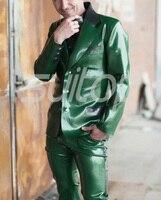 Для Мужчин Латекс резиновая Гар Для мужчин TS куртка Костюмы Пиджаки для женщин (целые наборы в том числе топ и Штаны)