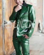 Men's latex rubber garments jacket suits Blazers(whole sets including top&pants)