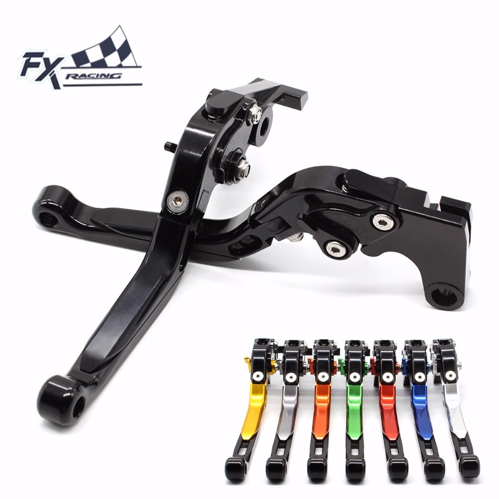 FX CNC Motorcycles Folding Extendable Brake Clutch Levers Aluminum Adjustable For Suzuki Bandit 650S 2015 Motorbike Accessories for ducati multistrada 1200 dvt 2015 motorcycle accessories cnc billet aluminum folding extendable brake clutch levers