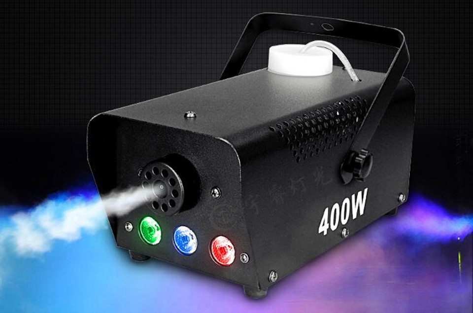 min Wireless control LED 400W smoke machine/RGB chang color led fog machine professional led Par Moving head stage smoke ejector