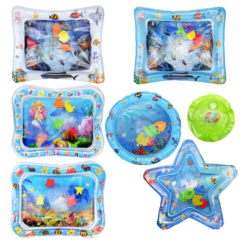 Baby Water Play Mat Toys Watermat Inflatable Tummy Time Playmat For Babies Toddler Activity Play Center Water Mat For Kids
