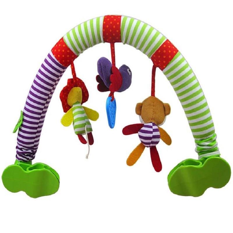 0-12 Måned Baby Mobil Musisk Seng Spill Barnevogn Dreiebenk Seat Ta - Baby og småbarn leker - Bilde 4