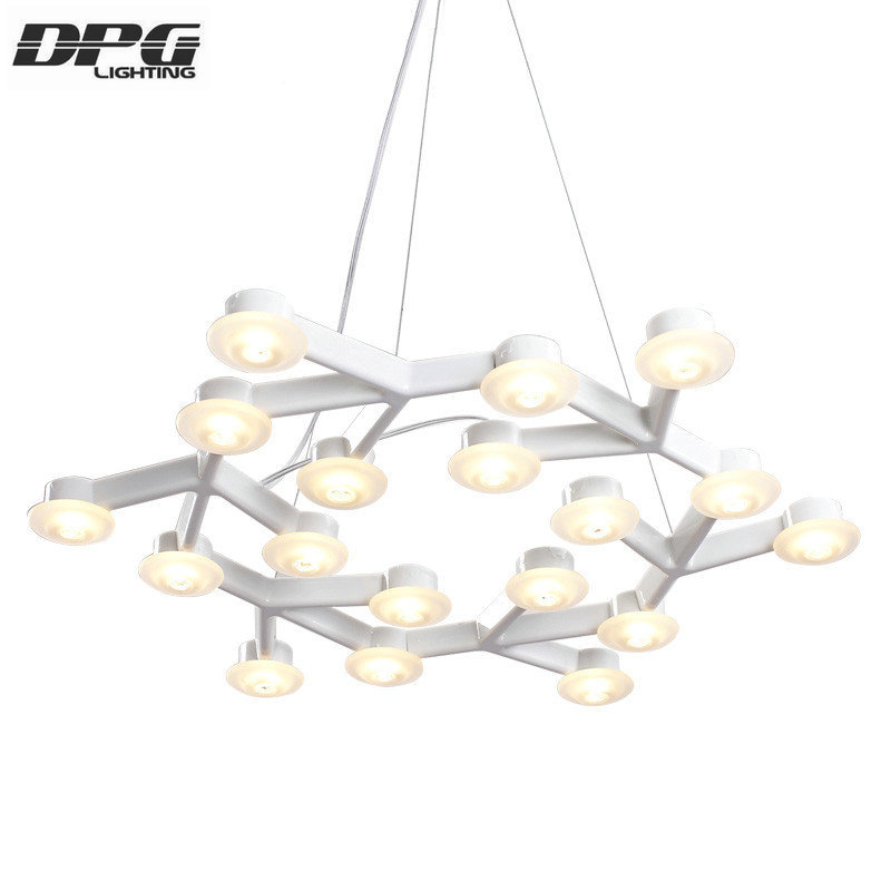 Modern New Art Design LED Star plum blossom Decor pendant lights white Iron long circle diamond lustres hanging lamp lustre автоинструменты new design autocom cdp 2014 2 3in1 led ds150