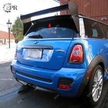 For Mini Cooper S R56 M7 Style Carbon Fiber Roof Spoiler (Aluminmum end cap) Rear Top Wing Lip