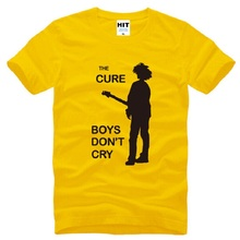 70107184 The Cure Rock Band BOYS DO NOT CRY T Shirts Men Cotton Short Sleeve Printed  Man