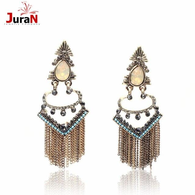 1a4d75a243 US $4.0 |JURAN Metal Tassels Earring 2018 New Design Long Dangle Earriings  For Women Classic Water Drop Earings Jewelry 2 Colors W1207-in Drop ...