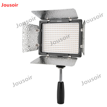 2PCS YONGNUO YN300 III YN300III CRI95 3200K-5500K LED Video Light with Barndoor Photographic + 2x NP550 Battery + Charger CD50