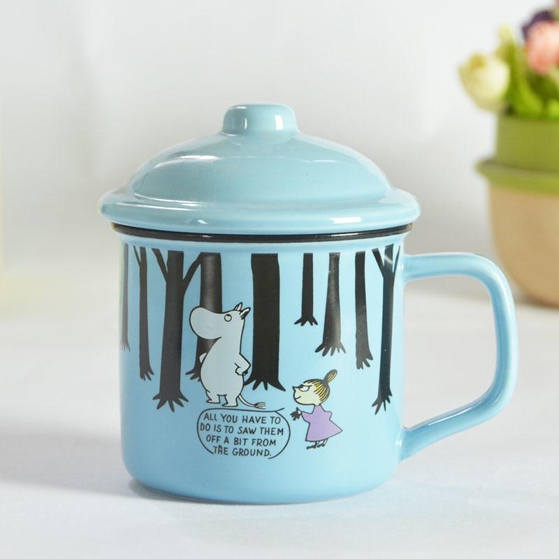 1PC 300ml Mini Ceramic Creative Cartoon Milk Coffee Simple Breakfast Mug Water Lovers Cup Caneca Moomin Cups And Canecas Mugs