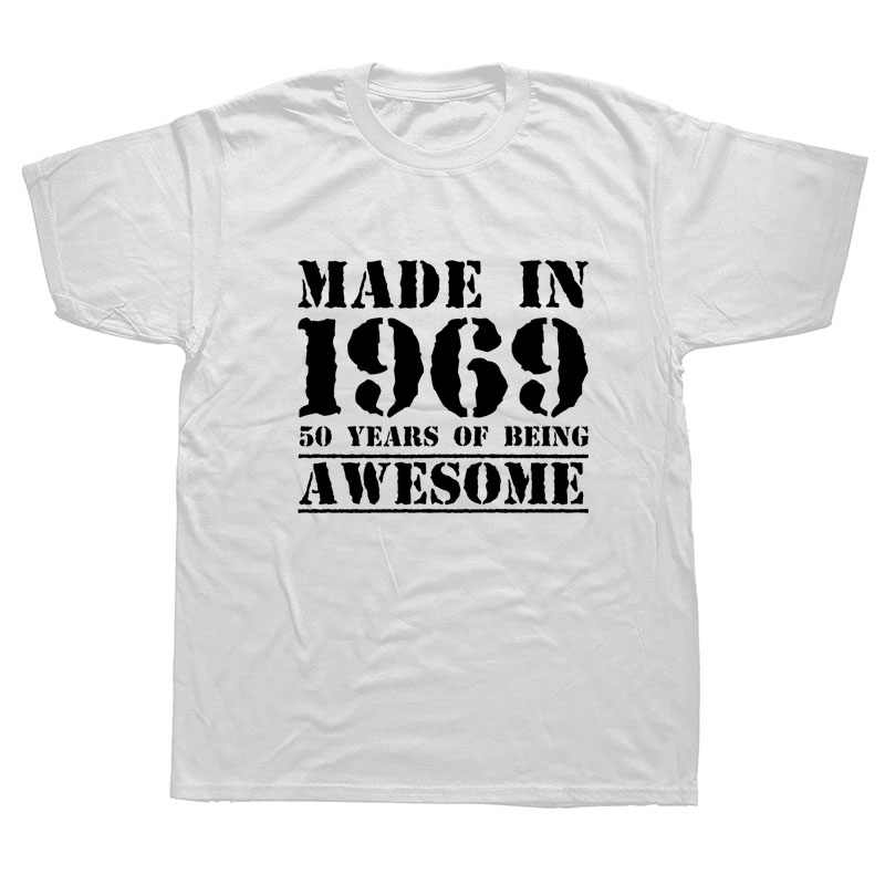 Brand New Summer Men Made In 1969 50 Years Of Being Awesome Mens 50th Birthday T