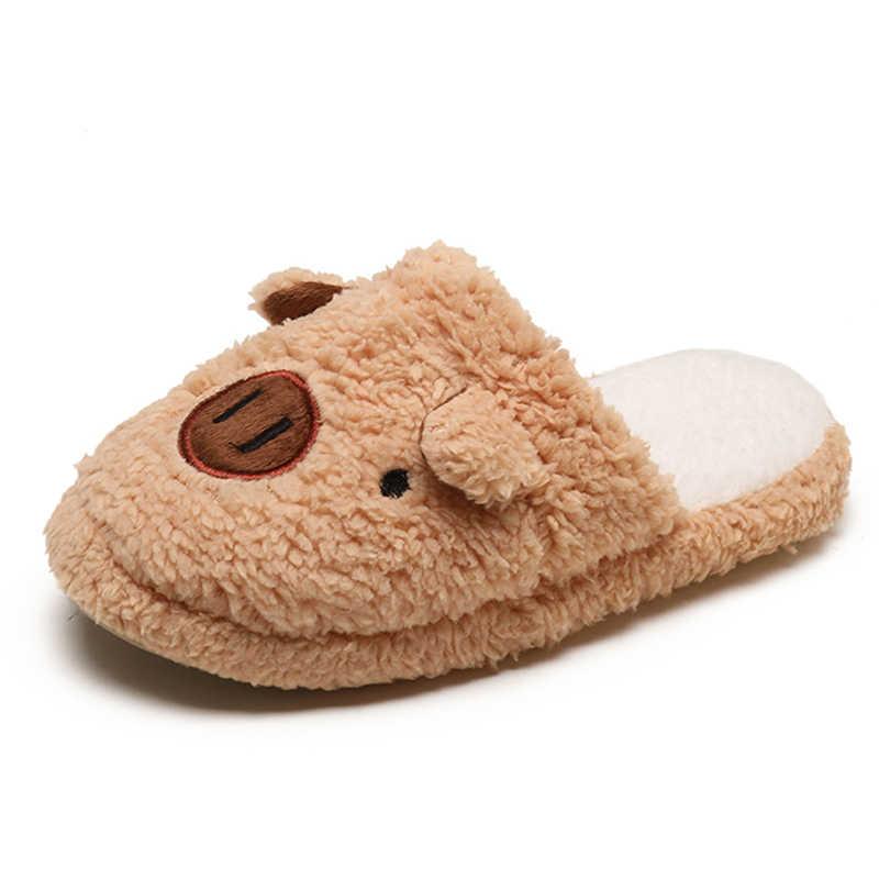 8bce63350 ... HEE GRAND/милые тапочки из искусственного меха, модная обувь на плоской  подошве, женская ...