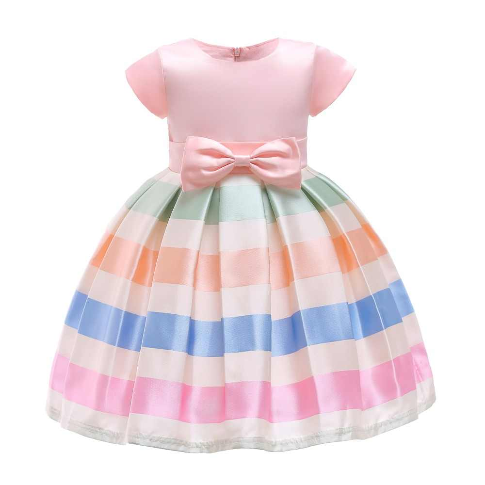 5f9dffd36e60b Hot style Girl Summer Striped dress Baby girl comfort princess dress  2-10Tbow kid costume