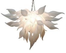 Artistic White Murano Chandelier Light China Supplier Cheap Hand Blown Glass for Art Decor LED Bulbs