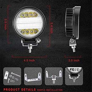 Image 4 - OKEEN Barra de luz LED de obra de 4 pulgadas y 120W, Combo de luces antiniebla 4x4 con ojos de Ángel, luz de conducción amarilla y blanca para camión